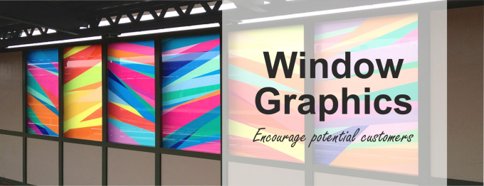 Window graphics and displays not only encourage potential customers into your retail space they can be used internally to promote your services or in an